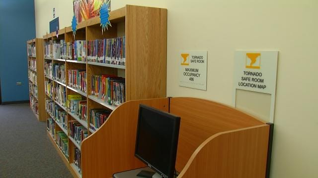 TPS Cuts Ribbon On Mitchell Elementary Library-Safe Room