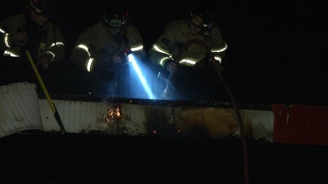 Fire Damages Wranglers BBQ In South Tulsa