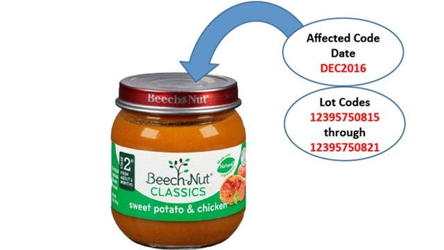 Beech-Nut Issues Voluntary Recall On Some Baby Food