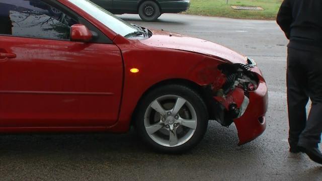 Car Hits Jenks School Bus; Minor Injuries