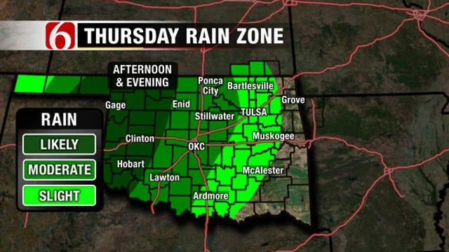 Chance For Rain Returns Thursday Evening