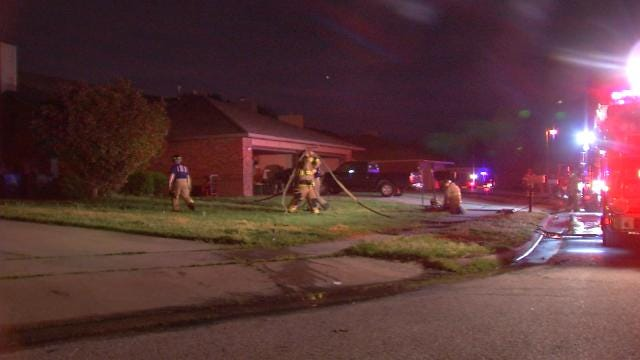 Fire Damages East Tulsa Home