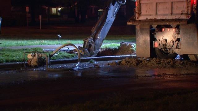 Geyser Is Latest Water Main Break In Tulsa