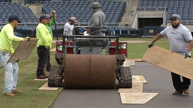 From Baseball To Soccer: Groundskeeper Transforms ONEOK Field