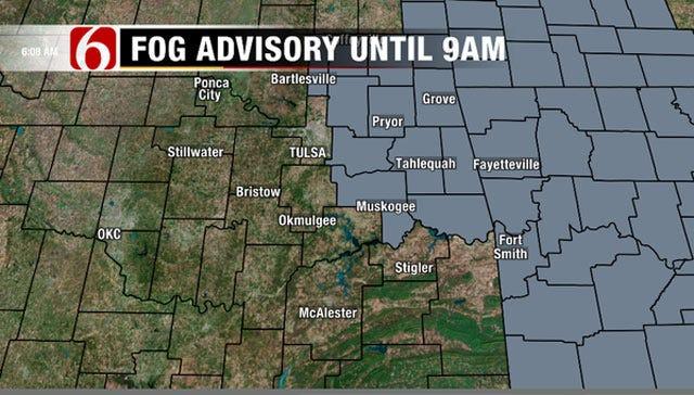 NE Oklahoma Under Dense Fog Advisory