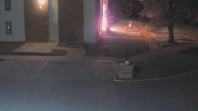 Cameras Capture Attempted Arson At Tulsa Apartments