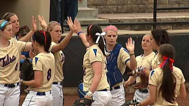 TU Softball: Golden Hurricane Takes Down Kansas