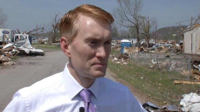 Sen. Lankford Tours Tornado-Ravaged Sand Springs Mobile Home Park