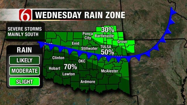 Rain Returns To Forecast For Eastern Oklahoma