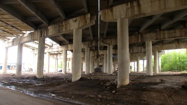 I-244 In Tulsa Being Rebuilt From Dirt Up