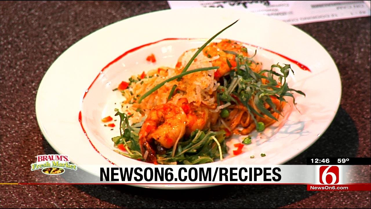 Asian Pad Thai Shrimp With Ponzu Sauce