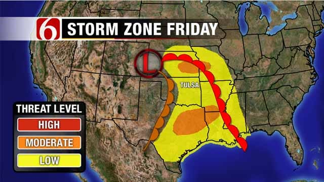 Severe Storms Possible In Green Country
