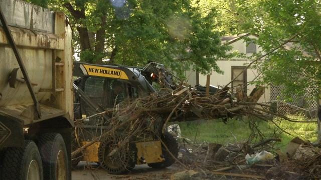 Crews Begin Special Storm Debris Pickup For West Tulsa Residents