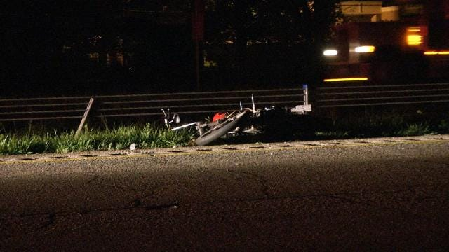 OHP: Motorcycle Crashes In Tulsa County, One Killed