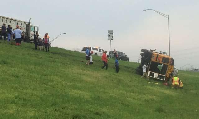 Tulsa School Bus Totaled In Rollover Crash