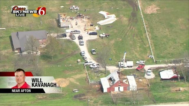 Osage SkyNews 6 HD Follows Path Of Afton Area Tornado