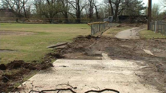 Tulsa Drillers, Roughnecks Pitch In To Help Rebuild Fields In Sand Springs