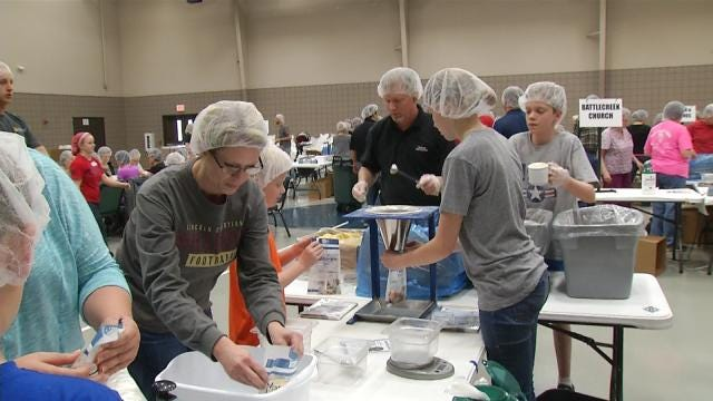 Oklahoma Volunteers Prepare 300K Meals To Feed Hungry Children