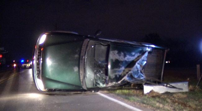Tulsa Police Clear Scene Of Rollover Wreck
