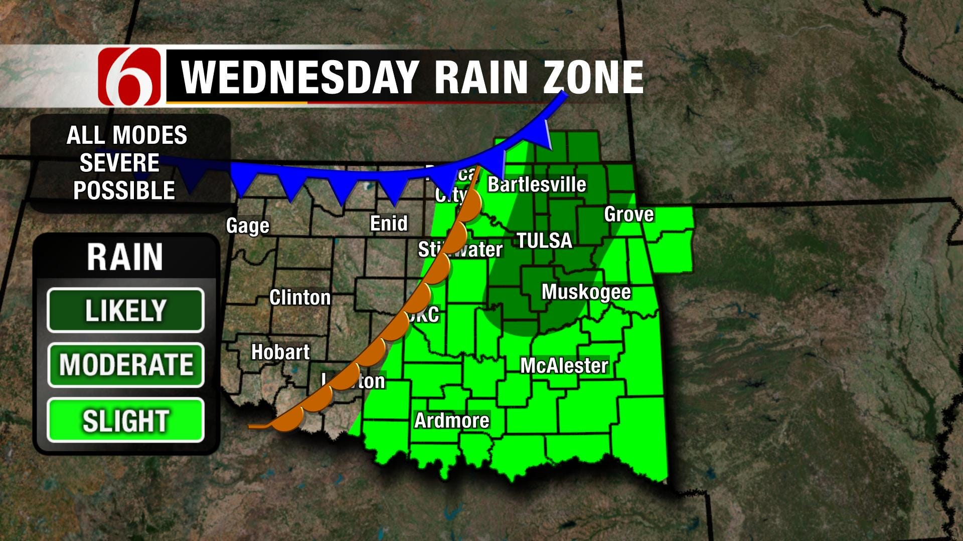 Alan Crone's Weather Blog: Chance Of Thunderstorms North Of Tulsa