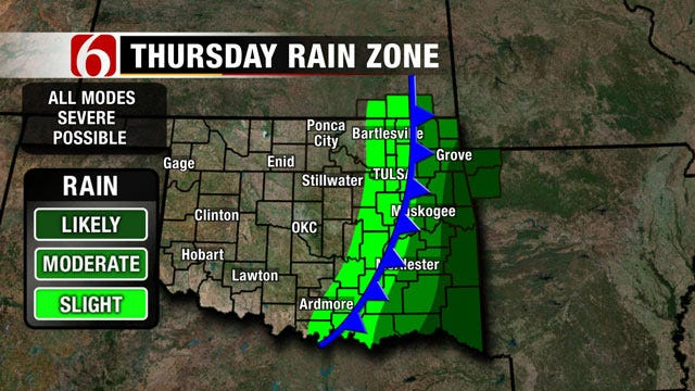 Chance Of Severe Weather This Week In Green Country