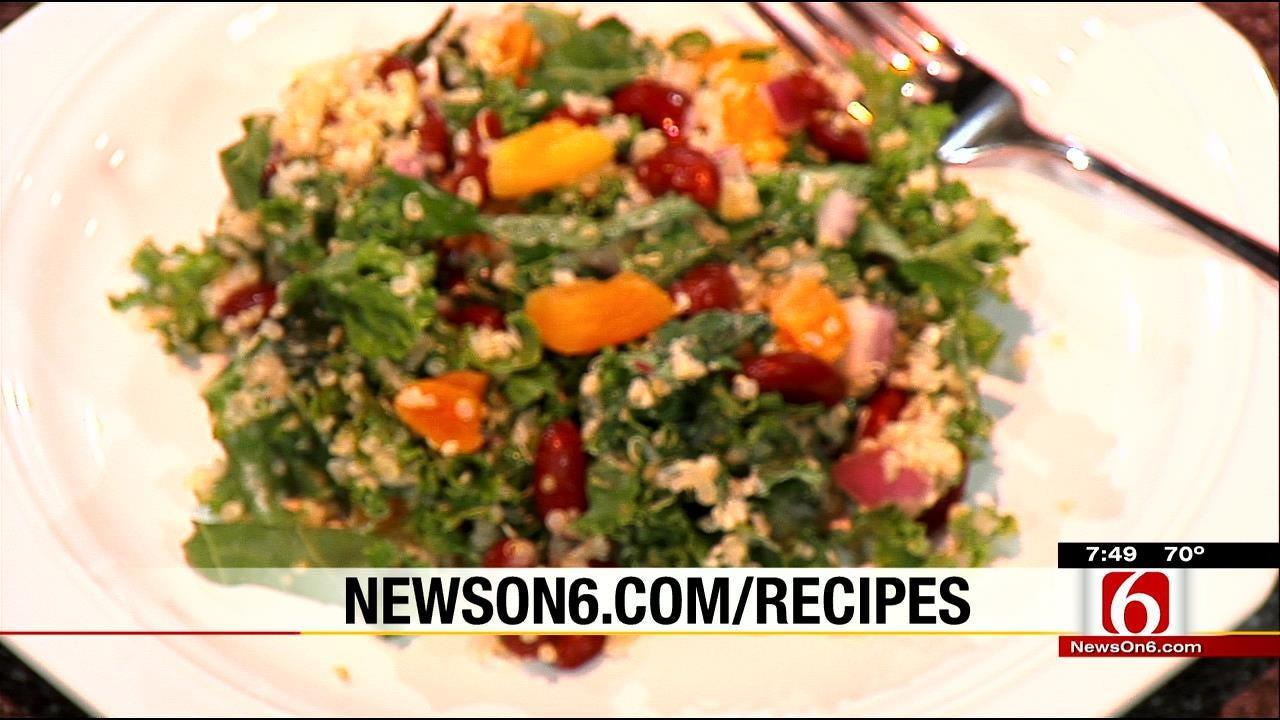 Quinoa-Kale Salad With Fresh Apricots