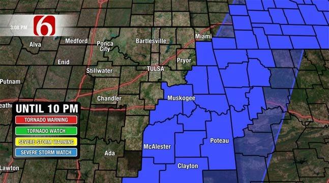 Severe Storms Threatening Southeastern Oklahoma