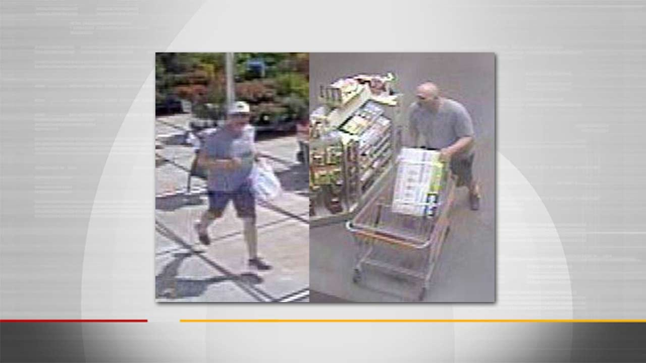 Tulsa Police Release Photos Of Man In Theft Investigation