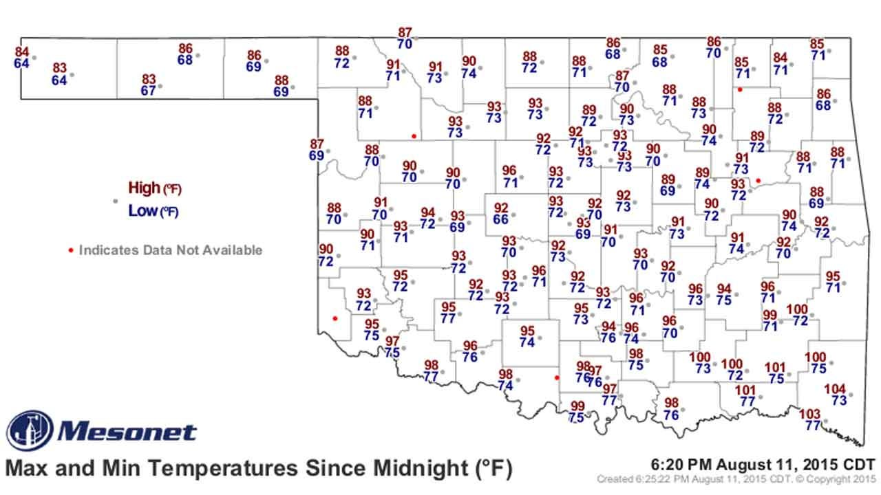 Dick Faurot's Weather Blog: Nice Break From The Heat, But Still Dry