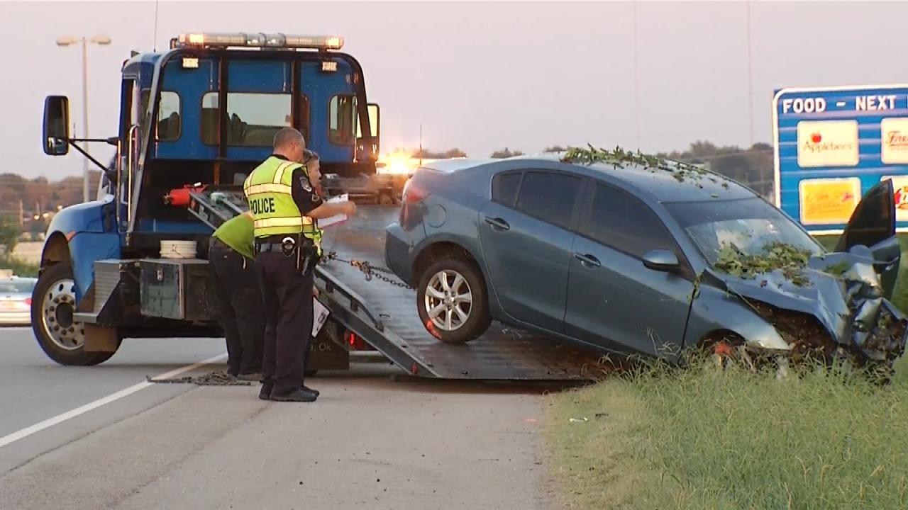 Crash On BA Expressway Sends Woman, Child To Hospital
