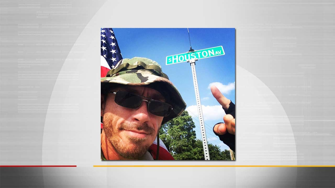Veteran Passes Through Tulsa On 6,000 Mile Awareness Walk