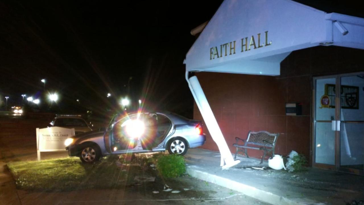 Police Investigate Car Crashed Into Tulsa Church