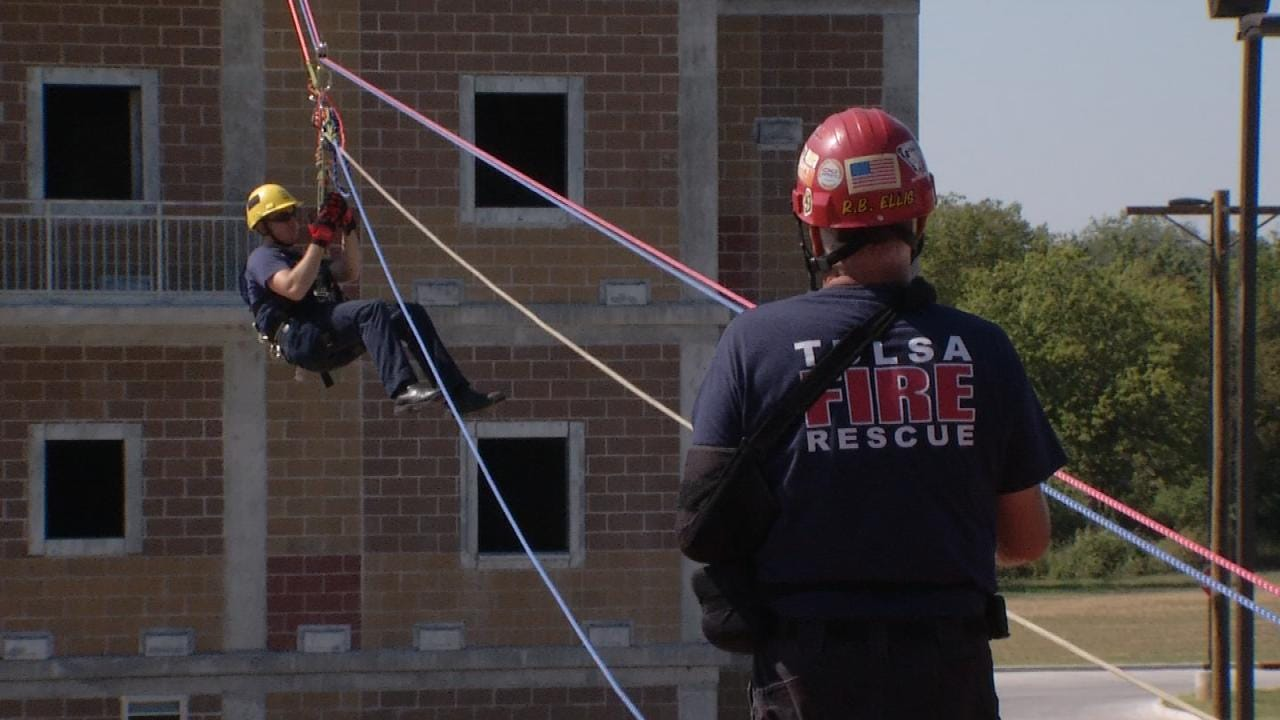 Practice Makes Perfect For Tulsa Fire Department Heavy Rescue Team
