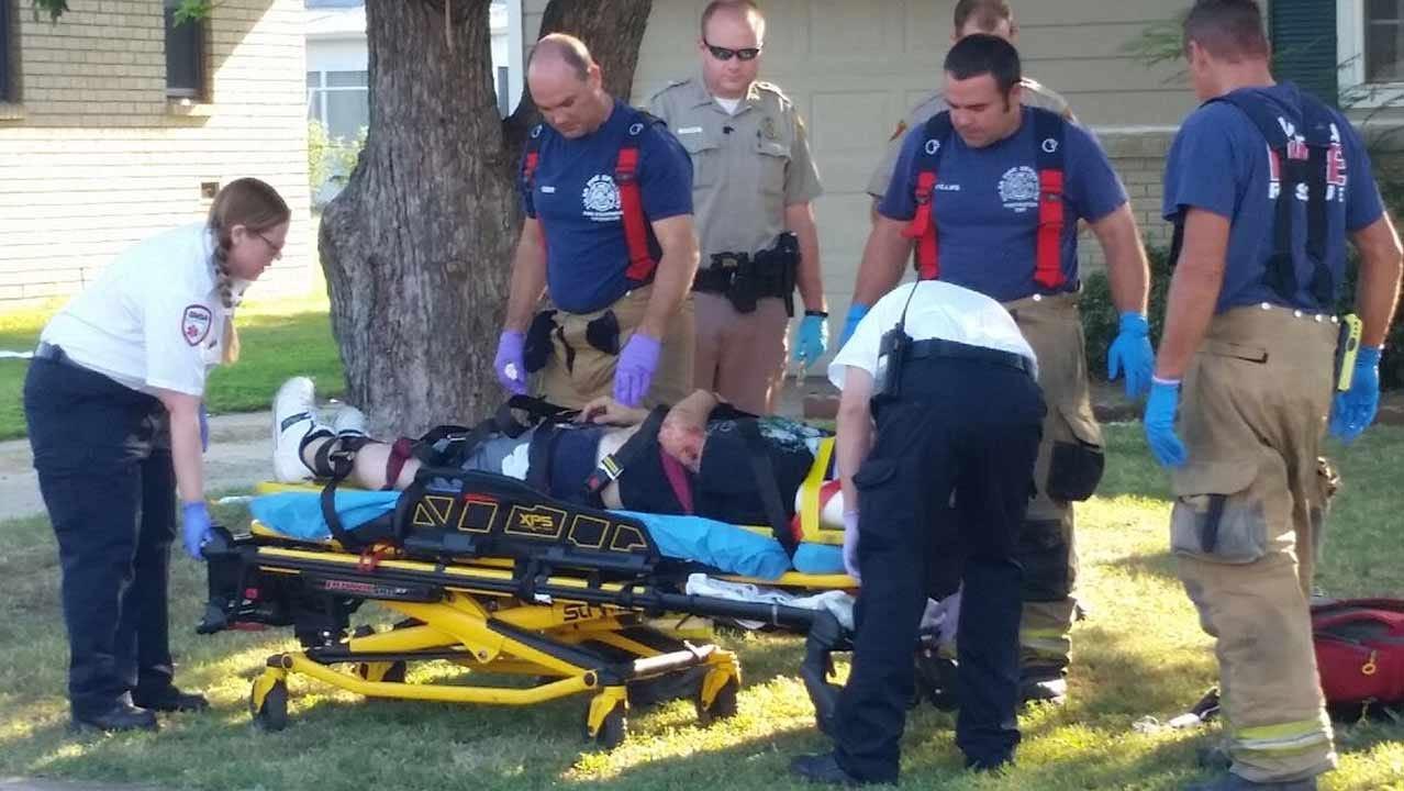 Tulsa Pursuit Ends When Suspect Crashes