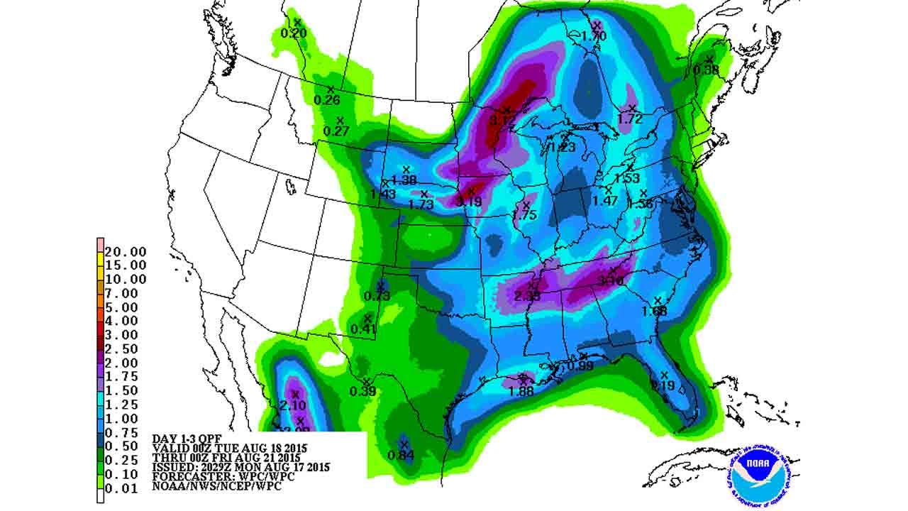 Dick Faurot's Weather Blog: Good Chance Of Rain, Turning Cooler