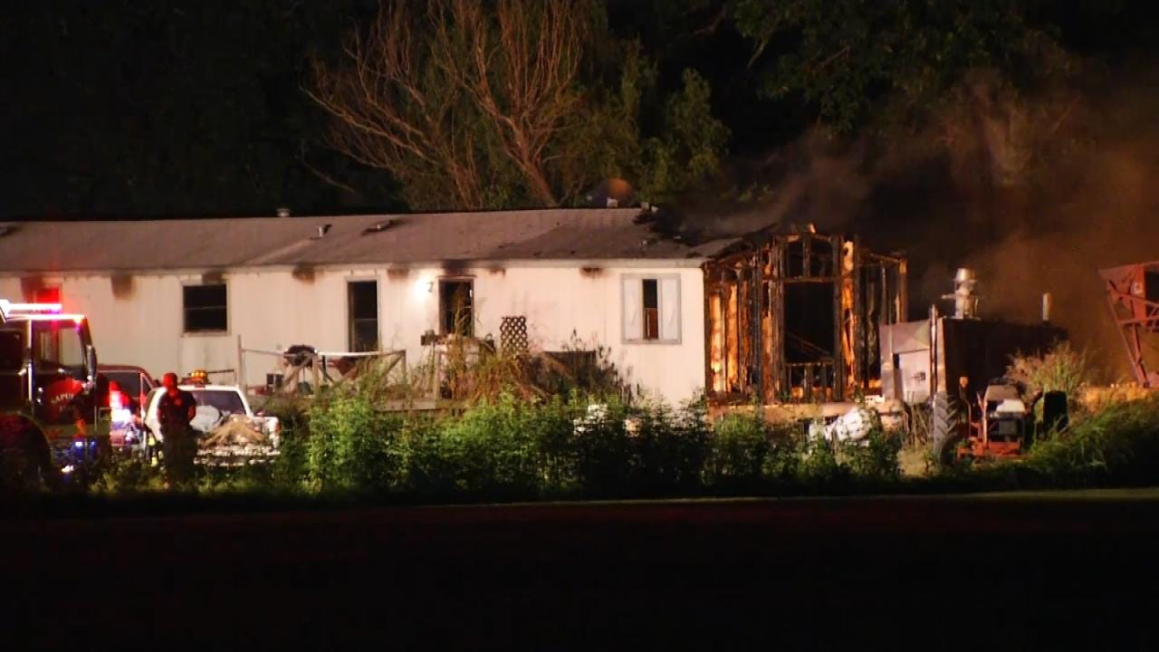 Creek County Home Damaged By Fire