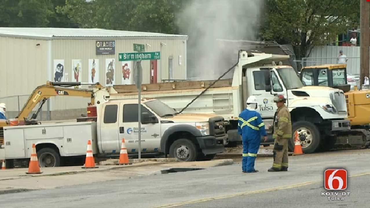 High-Pressure Gas Leak Shuts Down Tulsa Road