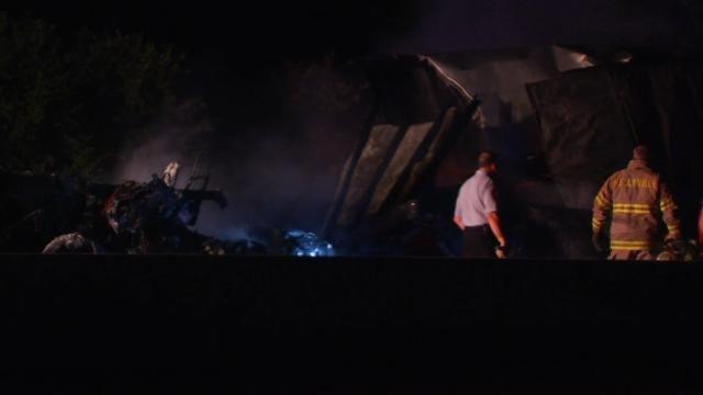 Fire Destroys Semi On Turner Turnpike Near Bristow Exit