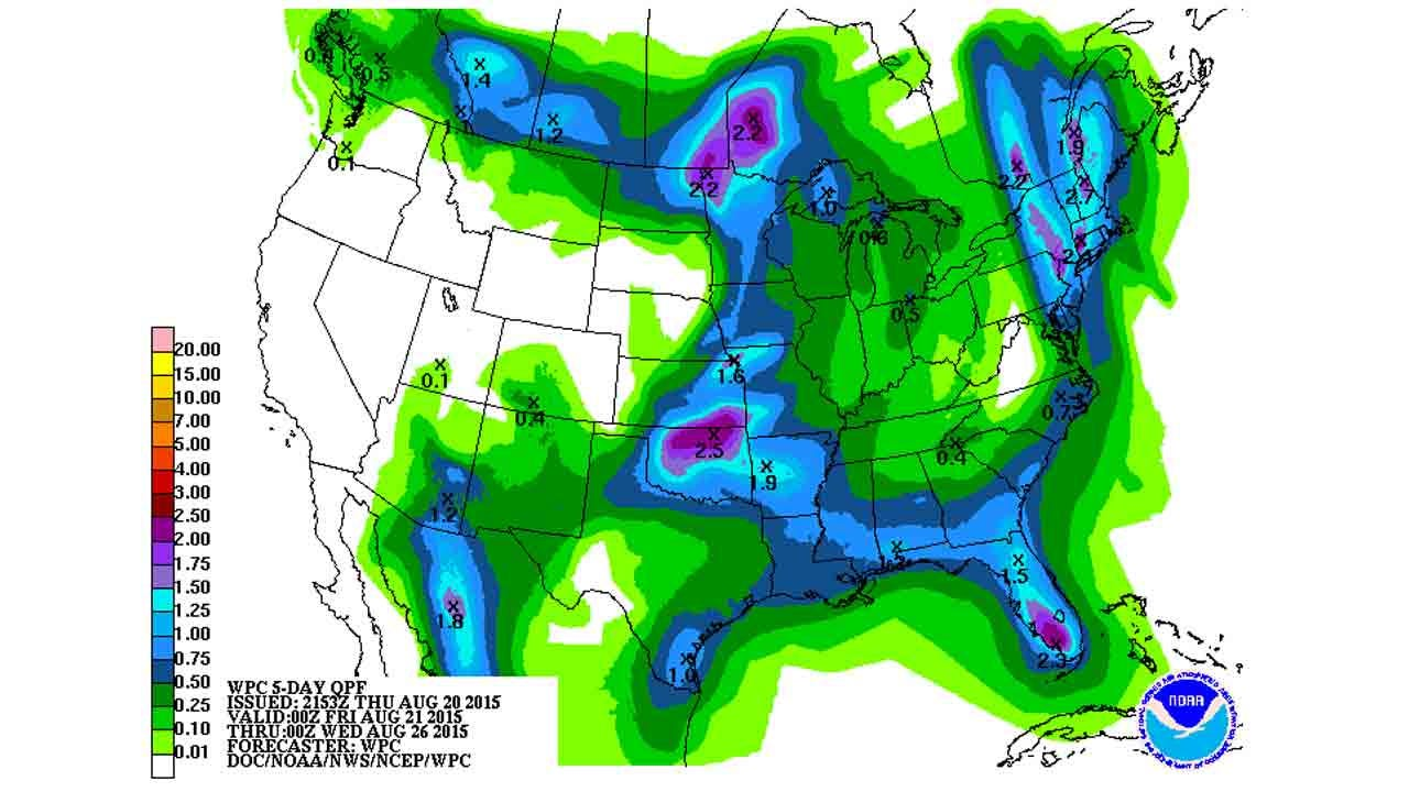 Dick Faurot Weather Blog: Chances Of Rain Through The Weekend