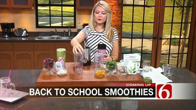 Mango Banana Super Food Green Smoothie & Berry Easy Breakfast Smoothie
