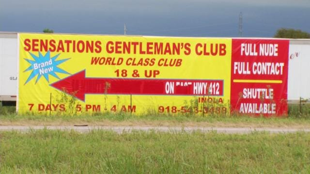 Strip Club Sign Along Highway Causes Mayes County Dustup