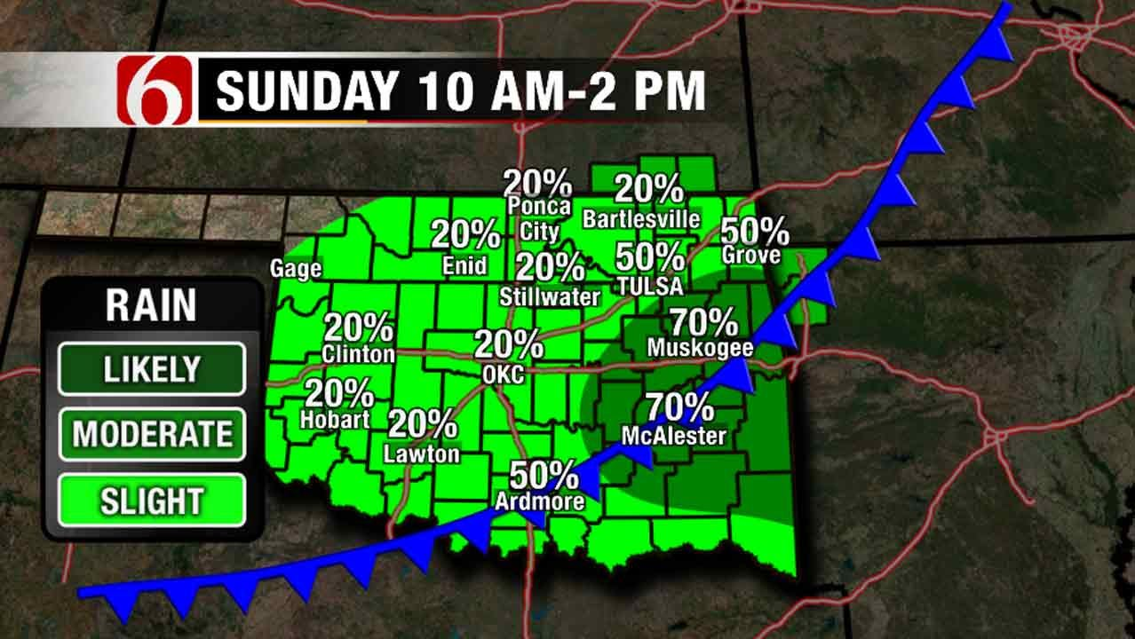 Cold Front Brings Another Round Of Storms To Oklahoma