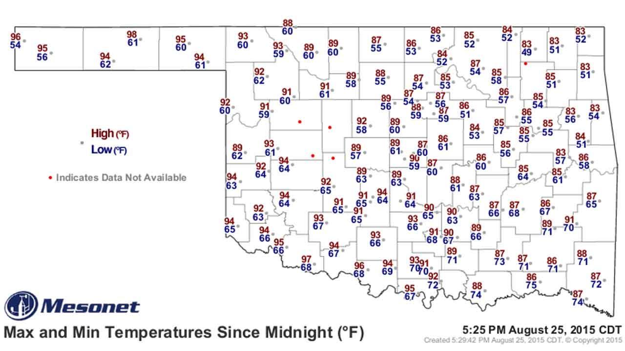 Dick Faurot's Weather Blog: Warmer, Slight Of Chance Rain Coming