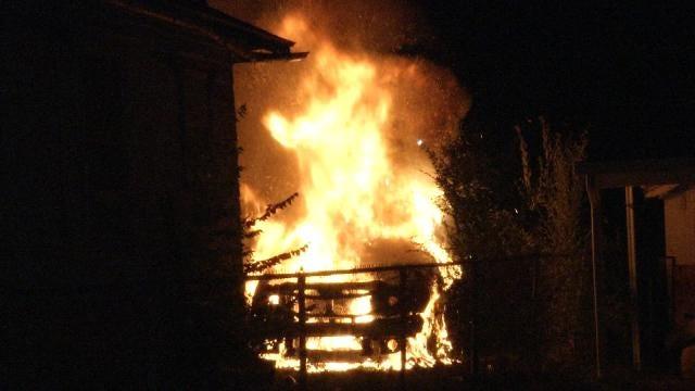 Fire Destroys Car Parked Behind Tulsa Home