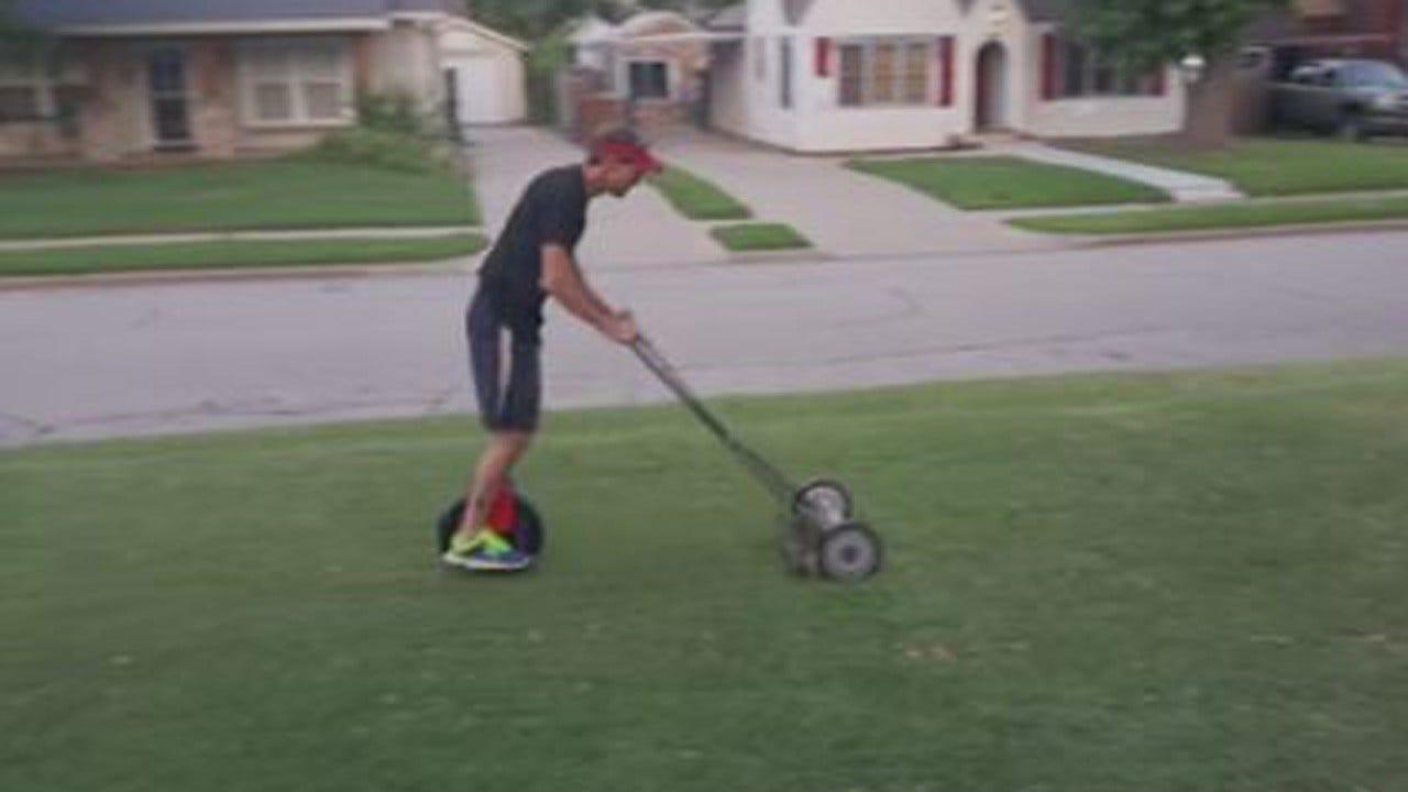 Tulsa Man Creates 'Hillbilly Lawnmower'