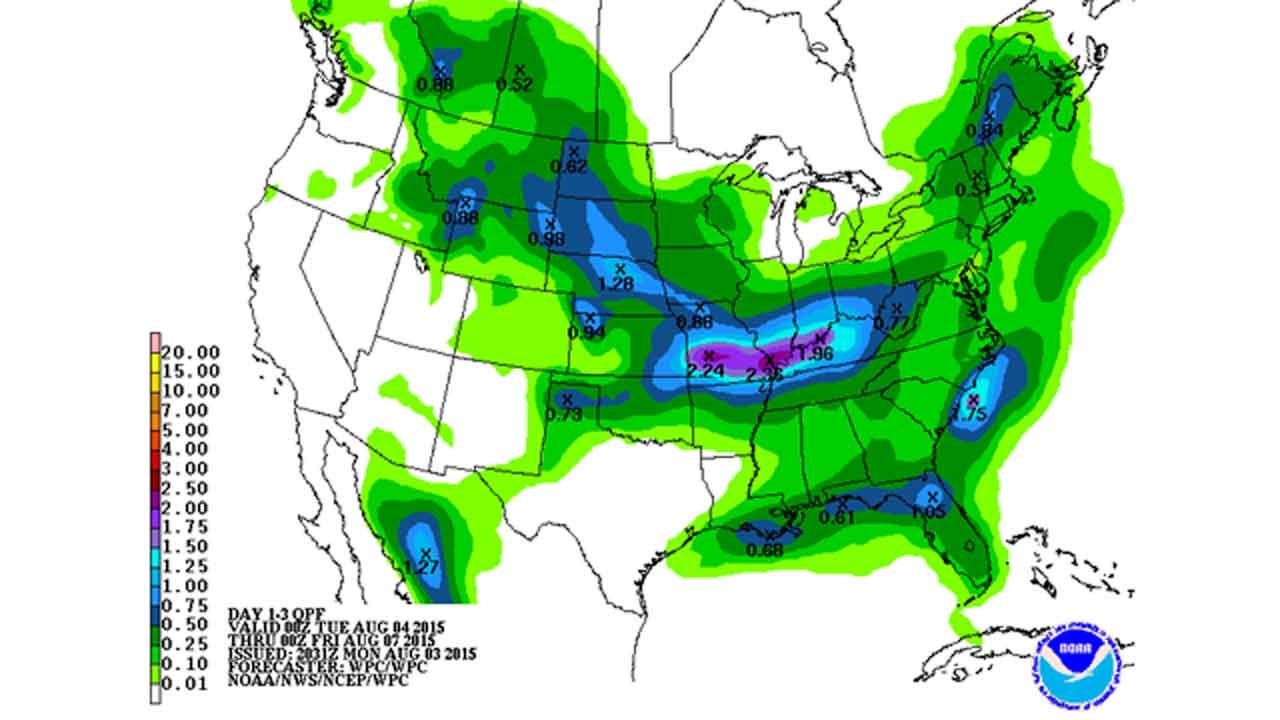 Dick Faurot's Weather Blog: Good Chance Showers/Storms Into Wednesday
