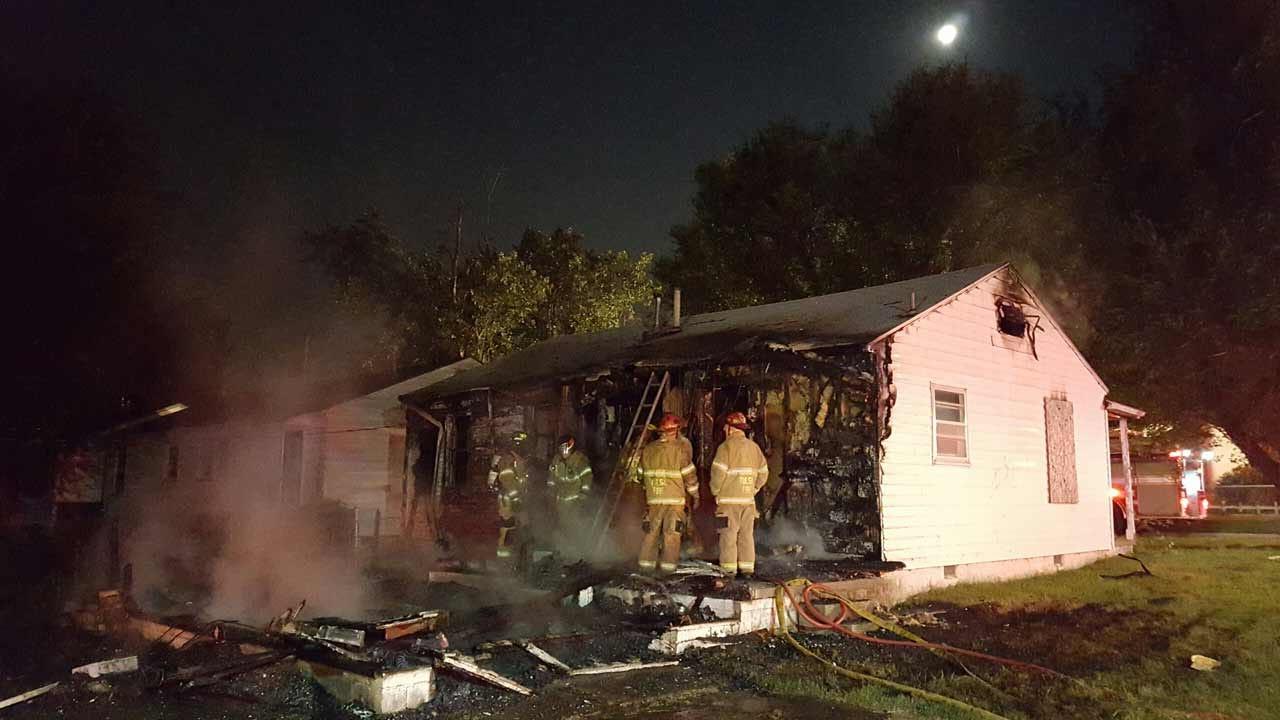 Tulsa Home Burns Overnight Sunday