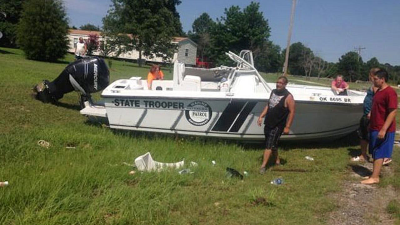 Former Oklahoma Trooper Who Destroyed Patrol Boat Pleads Guilty To DUI