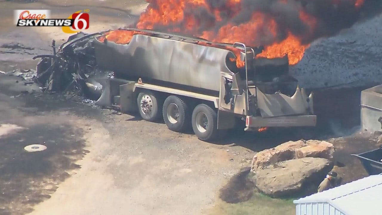 Tanker Truck Catches Fire At Gas Station Near Eufaula