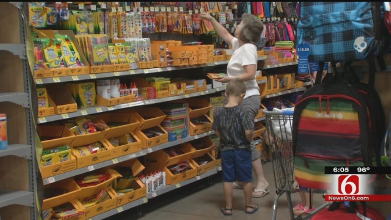 Back-To-School Shopping Is Big Business On Oklahoma's Tax-Free Weekend